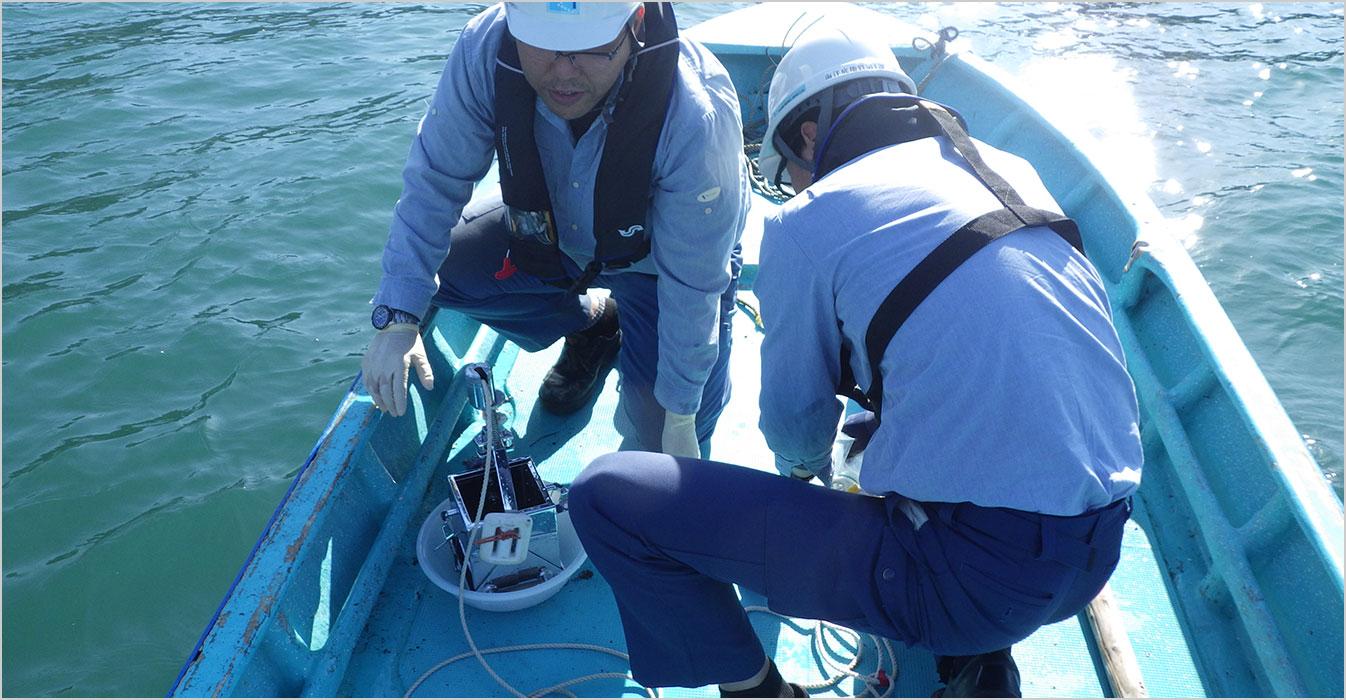 漁港の生簀・蓄養における定期環境調査の補助業務